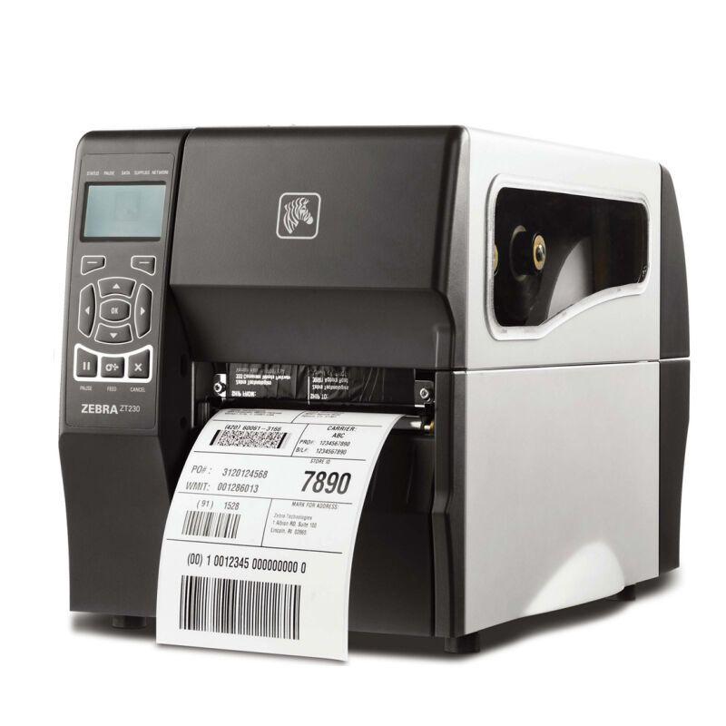斑马(ZEBRA) ZT230工业级别条码打印机 不干胶标签机 T230 斑马ZT230(300dpi)带网