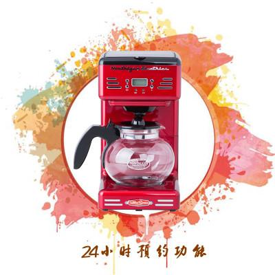 苏宁自营Nostalgia Electrics诺思得其50年代复古美式滴漏式咖啡机 金属红RCOF120