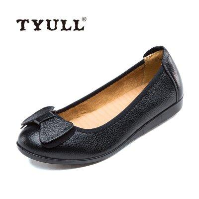 垂釣者(TYULL) 女士休閑皮鞋女單鞋平底 16698