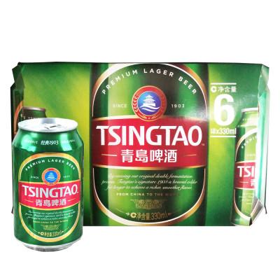 【苏宁易购超市】青岛啤酒 经典1903(10度)330ml*6罐