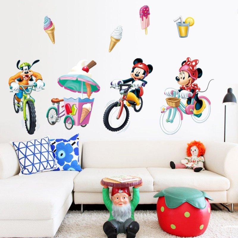 孩派 迪士尼正品 可爱贴纸儿童房装饰可移除墙贴 minnie mickey mm017