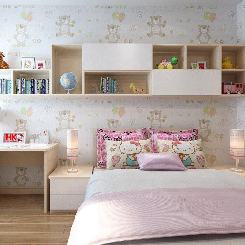 sogal索菲亚 衣柜 现代简约风格公主房木质推拉门床榻榻米书桌书柜