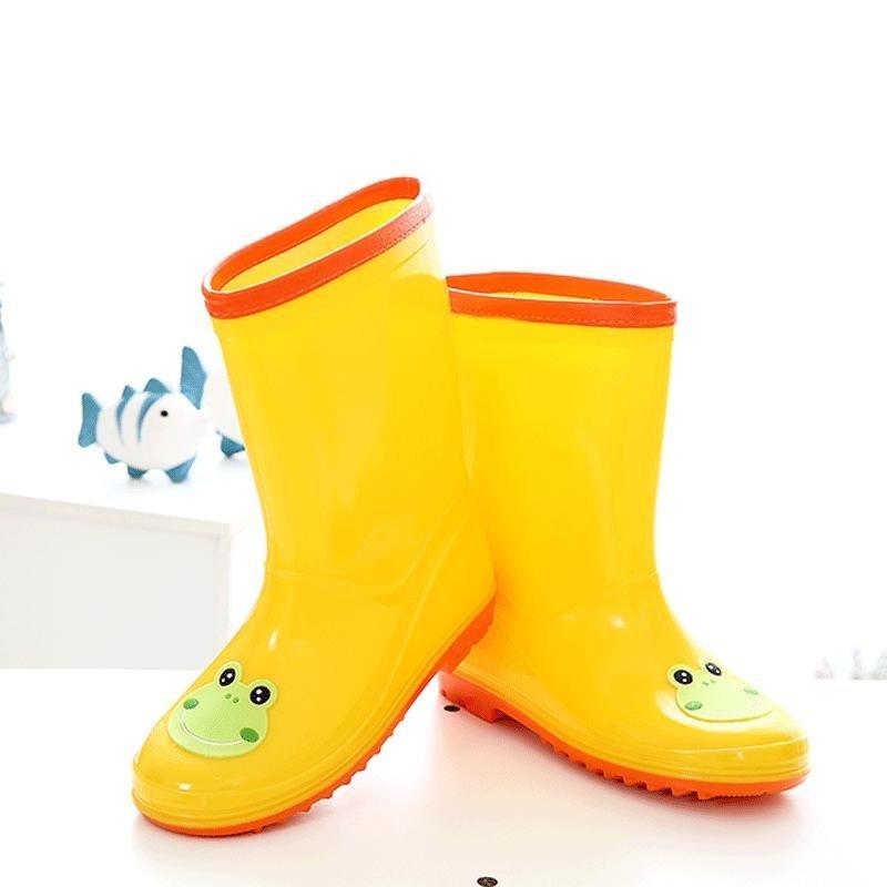 骑安儿童雨鞋男女童时尚可爱雨靴宝宝防滑水鞋学生公主胶鞋 粉红32