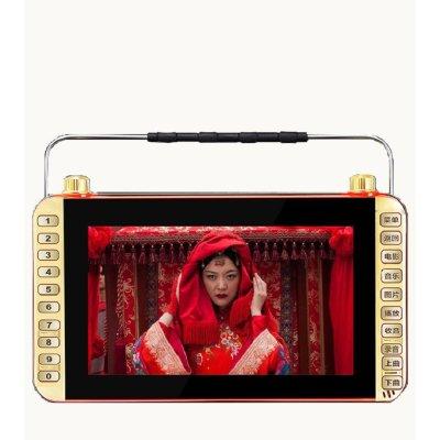 金正视频播放器 11.8英寸数字高清老人看戏机 扩音器唱戏机收音机可插卡广场舞音箱 双电池续航豪华版+8G视频卡