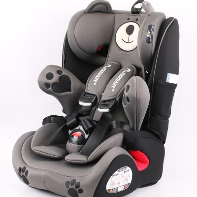 【苏宁自营】瑞贝乐(REEBABY)汽车儿童安全座椅 小熊601/601钢架款(9个月-12岁) 潜力灰钢架款