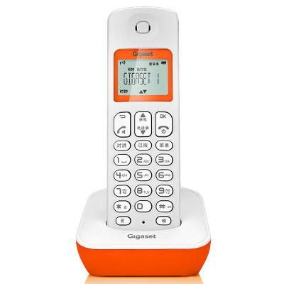 德國集怡嘉(Gigaset)原西門子品牌電話機A190鮮果橙 數字無繩電話辦公固定電話家用無線固話座機 單主機