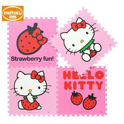 明德環保PE泡沫拼接地墊寶寶游戲墊爬行墊毯大號 草莓KT60*60*1(4片/包)
