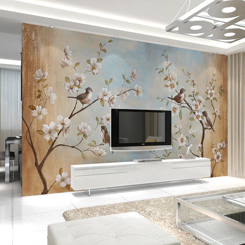 卡茵客厅电视背景墙大型壁画 卧室玄关背景墙纸 来图定制链接 法国