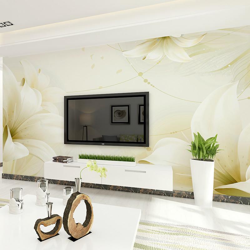 卡茵现代简约整张客厅电视背景墙纸无缝墙布卧室壁纸影视墙大型壁画
