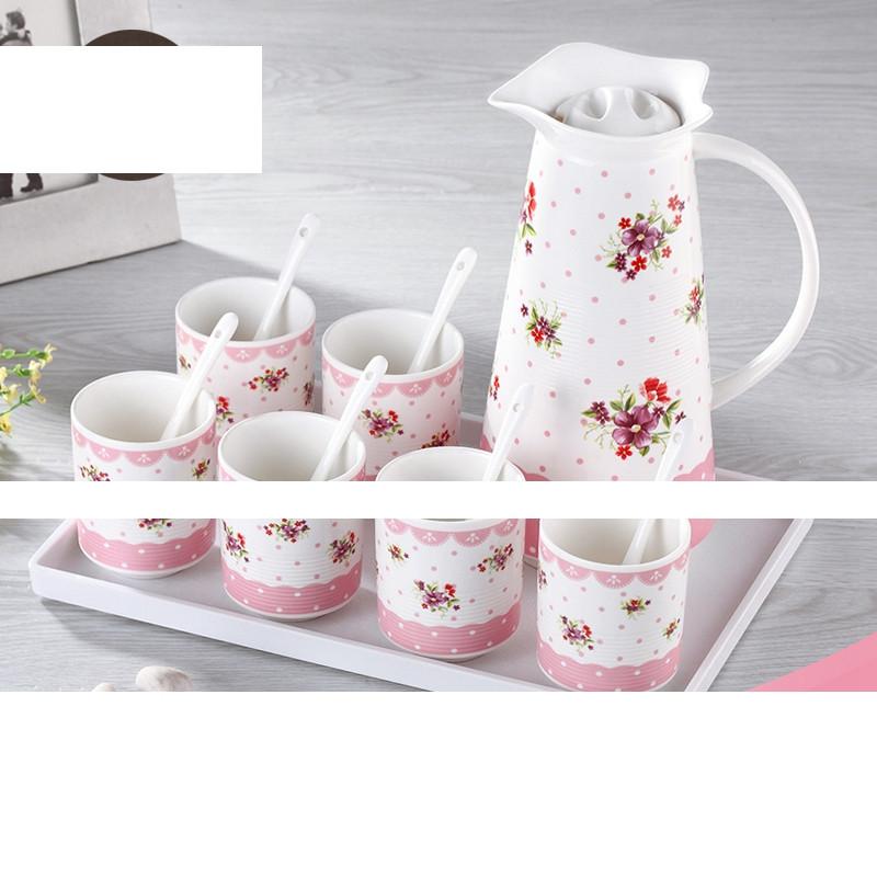大润窑 陶瓷水具水杯套装 陶瓷冷水壶水杯 耐热凉水壶图片