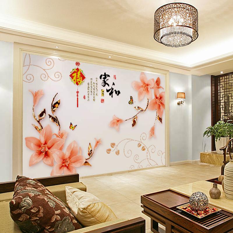 卡茵 中式家和客厅电视背景墙壁画 影视墙创意定制墙纸 卧室墙壁纸