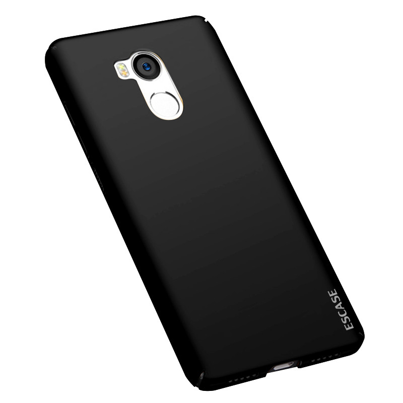 小米红米4手机壳 高配版硬壳肤感黑