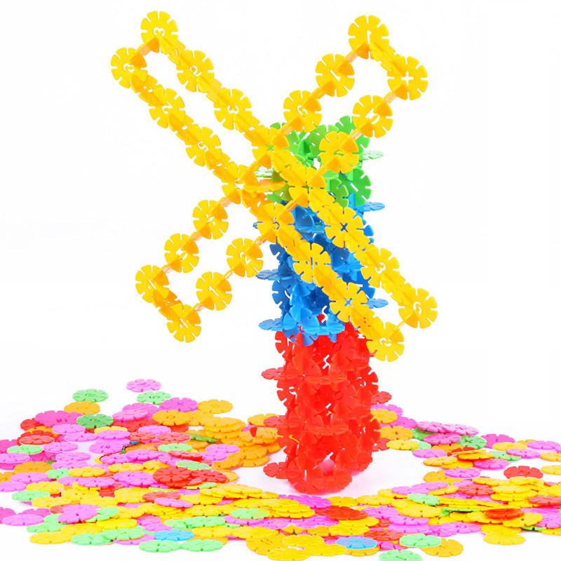 北国e家 儿童智力早教益智玩具 雪花片积木拼图玩具 720片收纳盒