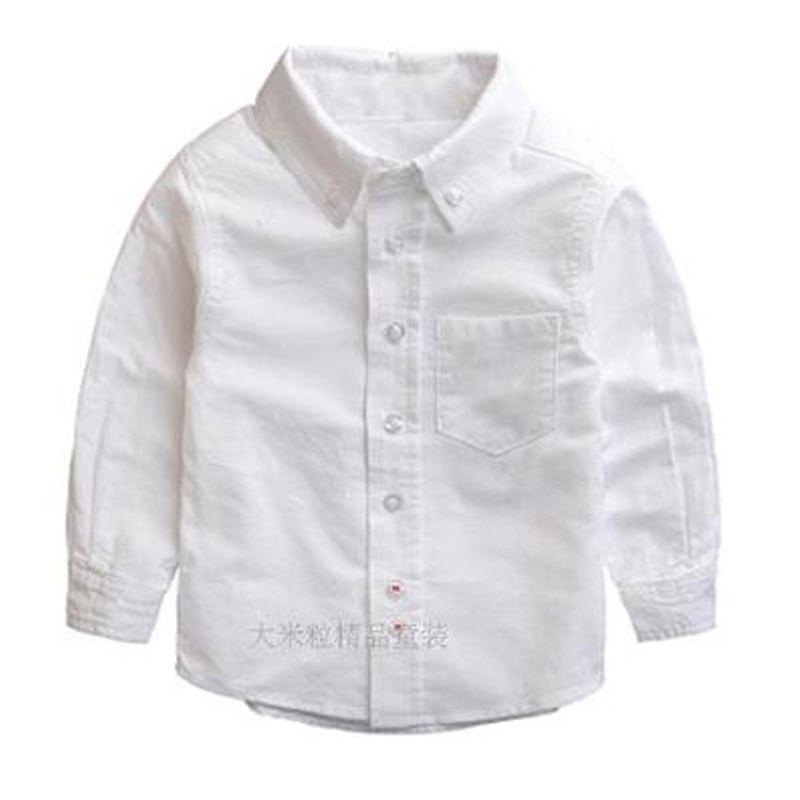 儿童衬衫男童长袖简约小可爱时尚清新多款多色可选韩版2017春季新款