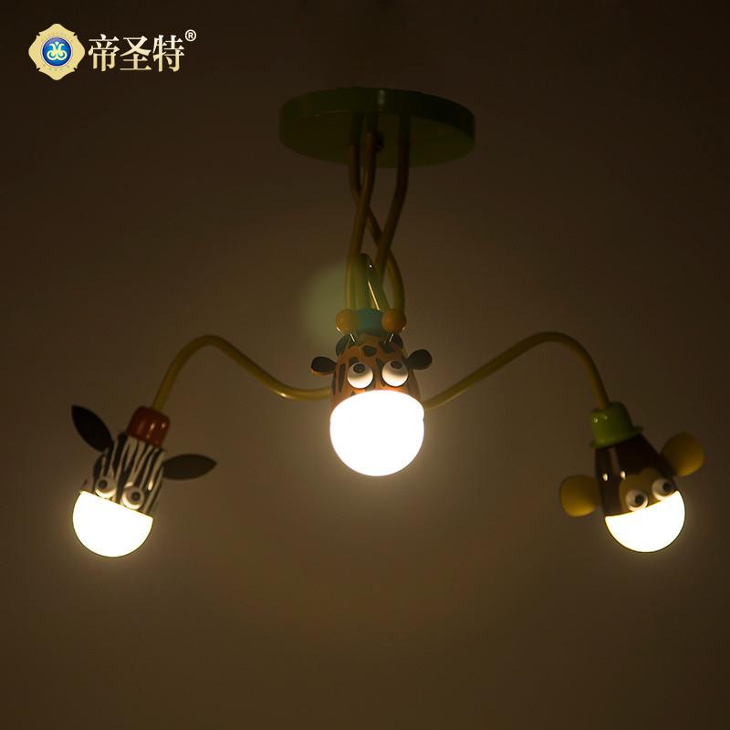 护眼儿童房灯led吸顶灯温馨宝宝卧室灯具可爱卡通灯具