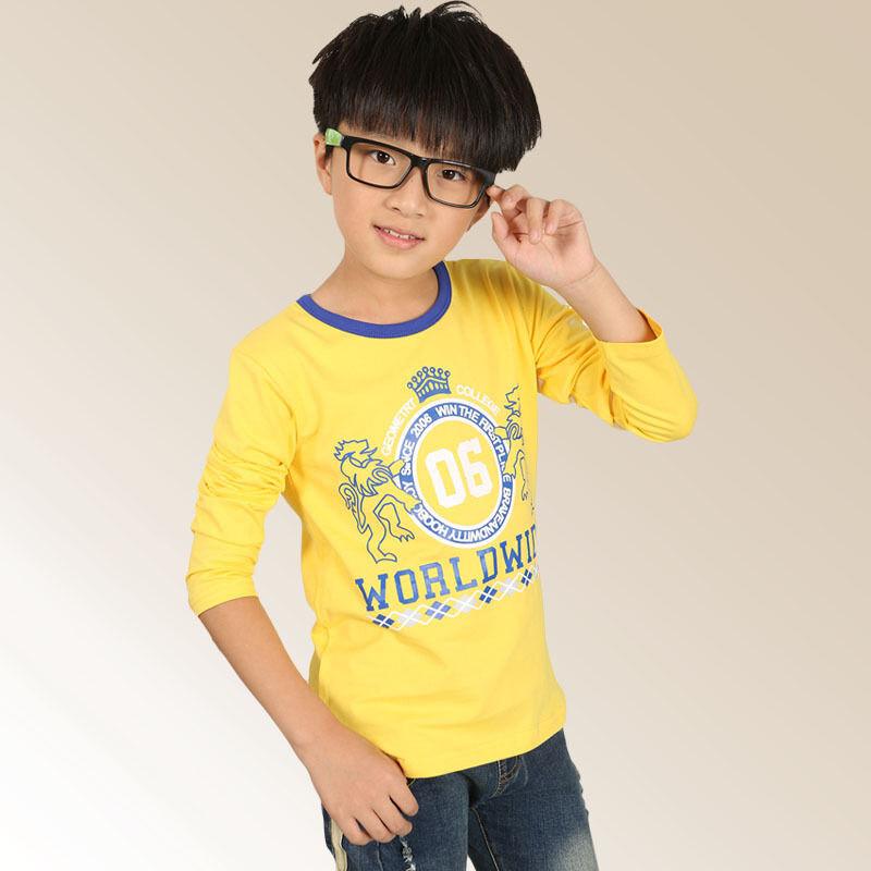 童_新款韩版童上衣男童春装中大童儿童狮子t恤衫童装33t031821490370227