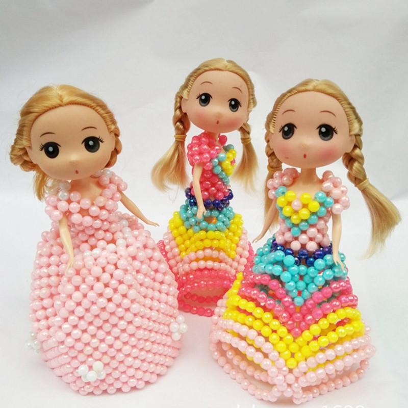 吟秀 手工串珠 芭比娃娃成品 树脂工艺品 宝蓝