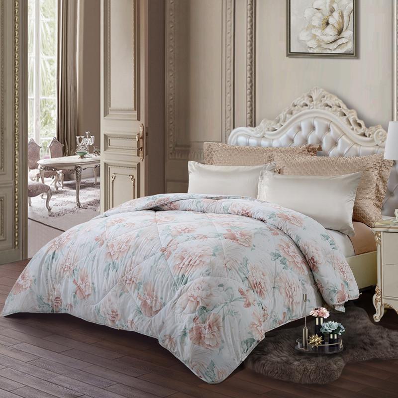 富安娜家纺 婉悦四季被 1.8床适用(230*229cm) 粉色