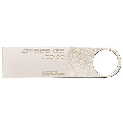 蘇寧自營金士頓(Kingston)128GB U盤 USB3.0 DTSE9G2 金屬銀色亮薄 讀速100MB/s