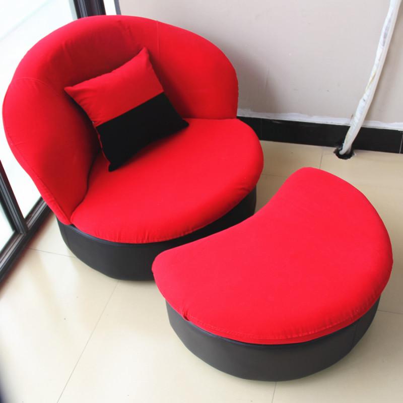硕木居懒人沙发单人椅创意可爱简约布艺小户型可拆洗卧室阳台电脑椅