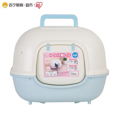 爱丽思IRIS 防臭宽门猫砂盆WNT-510M 蓝