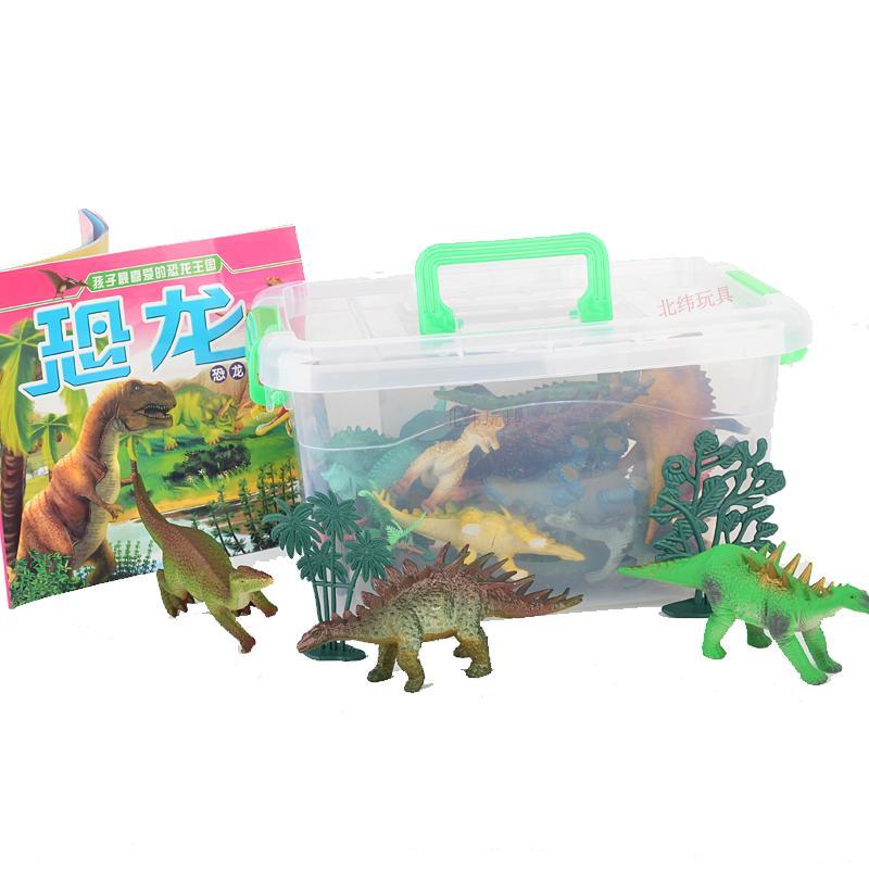 乐缔LERDER儿童恐龙玩具套?#30334;?#32599;纪公园动物模型玩具霸王龙大3-6周岁 儿童礼物24种恐龙模型+6棵树+恐龙书
