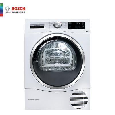 博世(BOSCH)XQG90-WTU879H00W 9公斤 热泵烘干 筒清洁 静效组合 干衣机(白色)