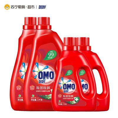 奥妙除菌除螨洗衣液3KGx2+1KGx2