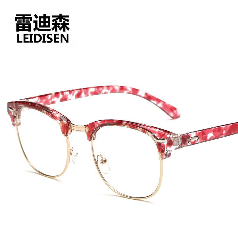 2017年新款圆框眼镜框复古框架镜原宿风眼镜架配近视防电脑镜3016男女
