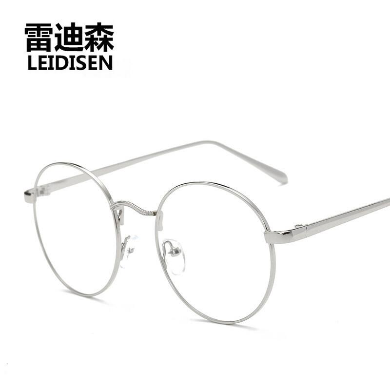 2017年新款韩版金属细边框学生配镜眼镜框圆形女款文艺范潮眼镜架002