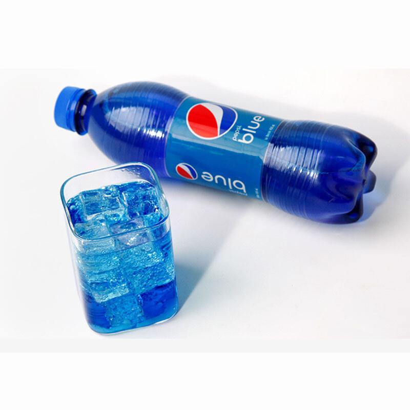 百事蓝色可乐饮料450ml 巴厘岛进口海水蓝网红可乐 blue 梅子味 瓶装
