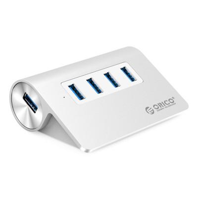 奥睿科(ORICO)USB3.0铝版集线器-M3H4-V1-SV