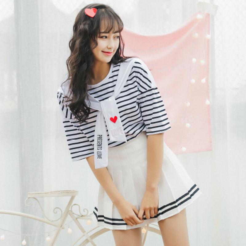 【新款2017】少女连衣裙两件套夏2017新款学生甜美软妹学院风可爱闺蜜