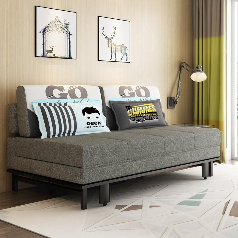 百爱优正 沙发床 多功能折叠沙发床 小户型布艺拆洗双人两用沙发床图片