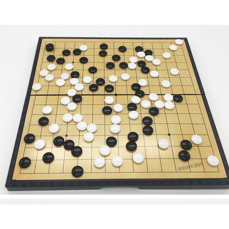 磁性大号黑白棋子折叠棋盘儿童成人学生益智围棋五子棋套装