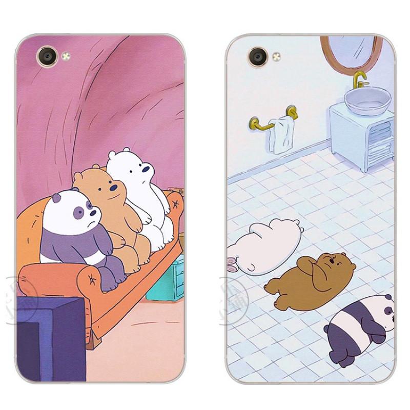 2017款三只熊可爱卡通原创意vivox7plusx6plusx9plus手机保 vivox6三