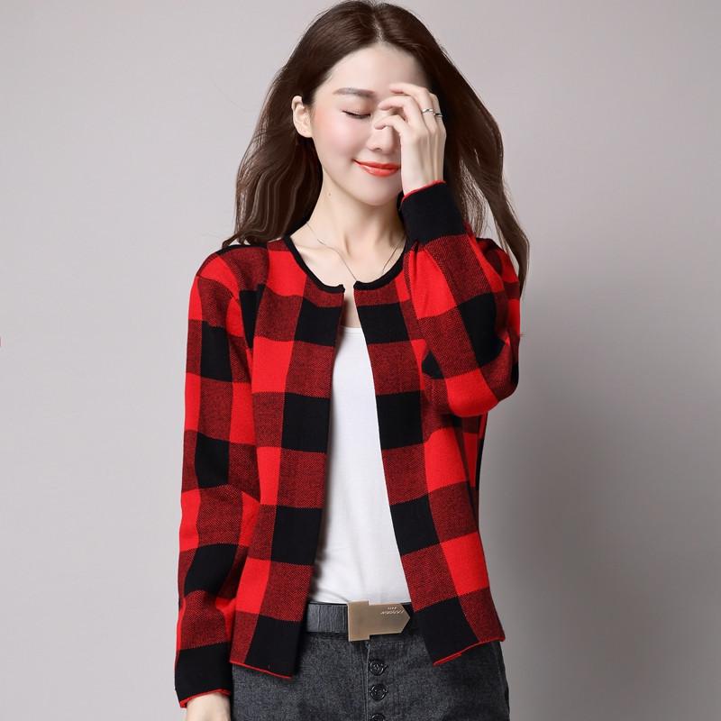 jmoory佐露丝2017春秋韩版圆领长袖针织衫开衫外套女短款初秋外搭毛衣