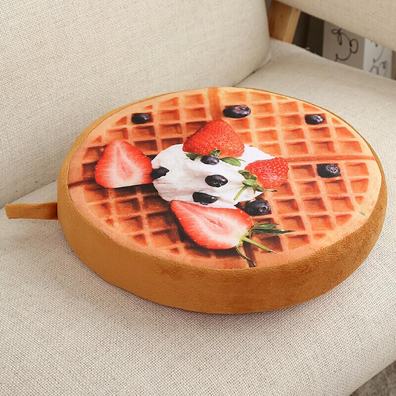 创意可爱西瓜水果坐垫靠垫抱枕加厚 草莓蛋糕