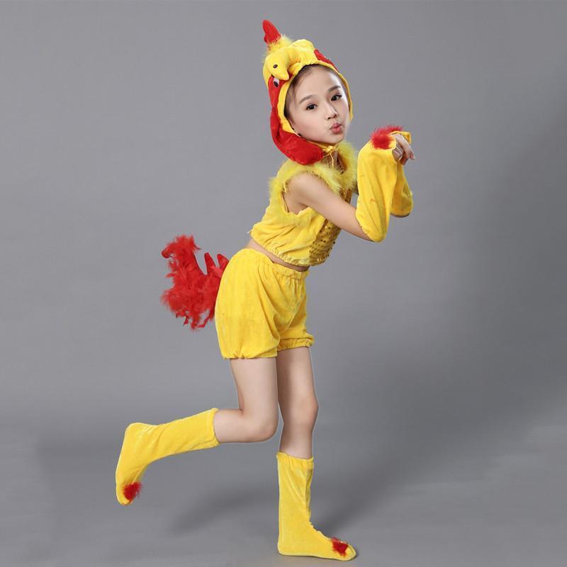 六一儿童节演出服儿童舞蹈服装动物小鸡表演服幼儿小鸡卡通_1 150cm