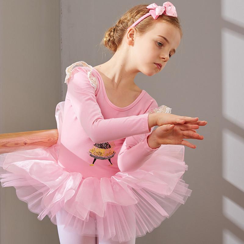 儿童舞蹈服装女童芭蕾舞裙幼儿练功服少儿体操演出服跳舞服_1