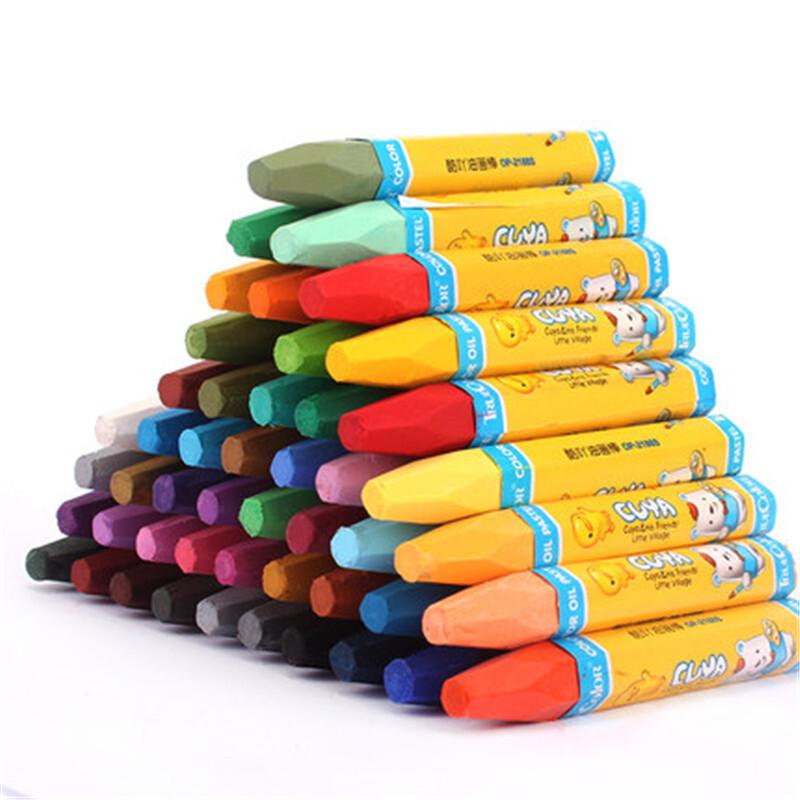油画棒炫彩棒48色彩色蜡笔儿童绘画邮画棒小学生美术用品y
