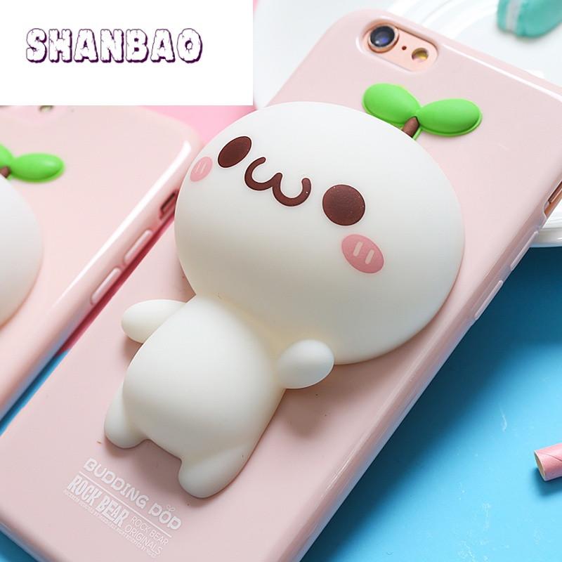 shanbao哆啦a梦iphone7plus支架套苹果6splus可爱卡通图片