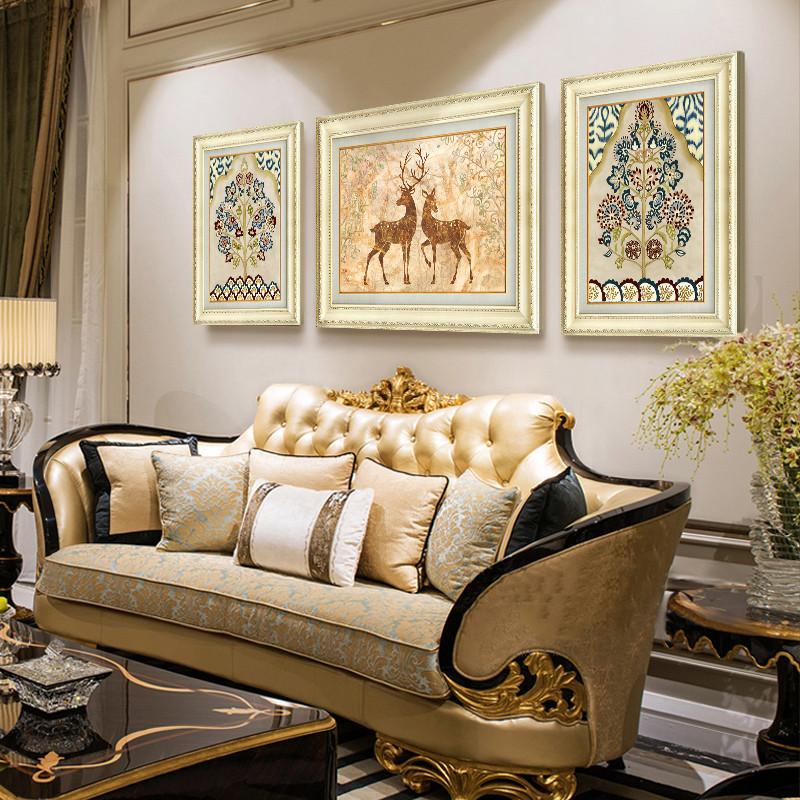 歐式裝飾畫客廳沙發背景墻裝飾簡歐風格 家居 墻壁裝飾 玄關走廊掛畫