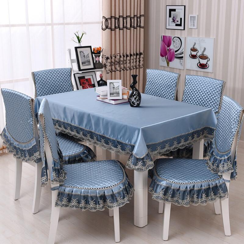 餐桌布套装布艺椅套餐椅垫套装椅子套餐椅套坐垫台布图片