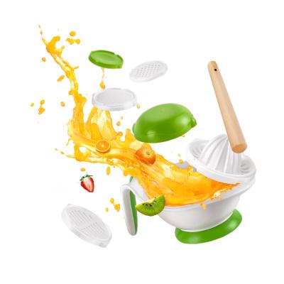 纽因贝NEWYERBAY 宝宝辅食研磨器食品研磨器 手动食物辅食工具婴儿果泥料理机研磨碗