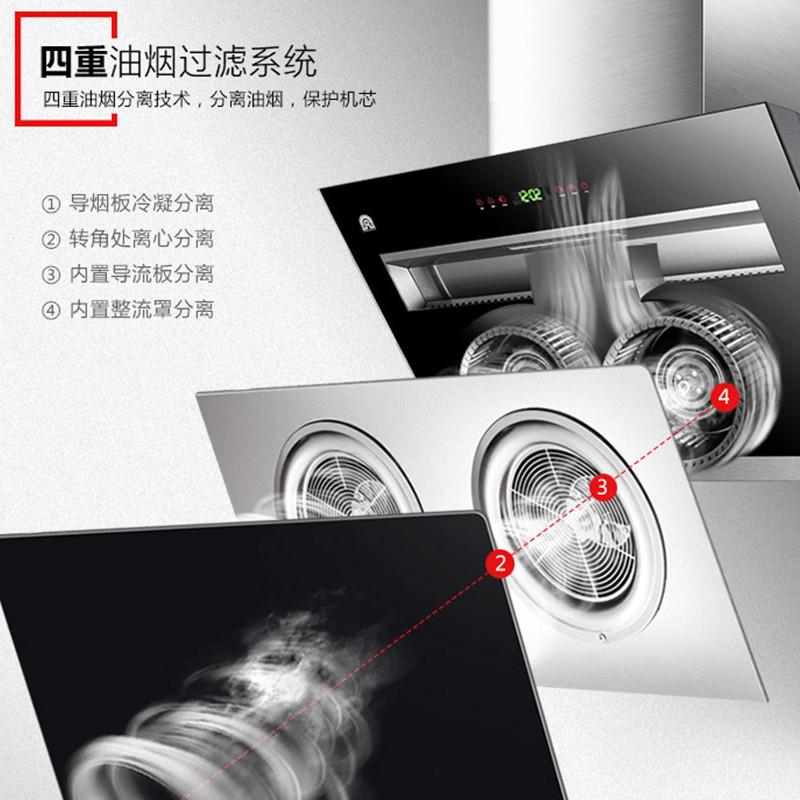 容声侧吸油烟机抽油烟机双电机CXW-280-RSP356(标准版)