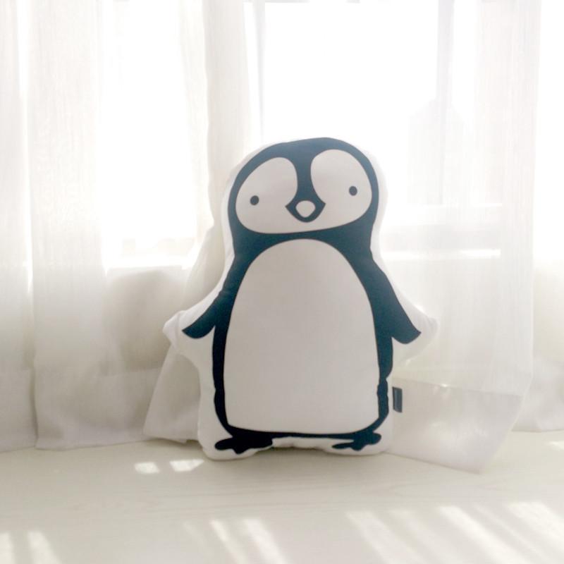 双面不可拆洗(萌萌系列) 黑白企鹅双面40x35厘米