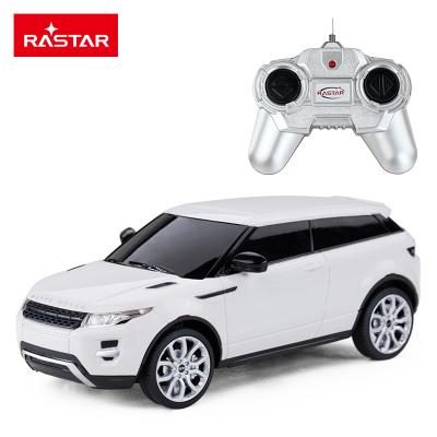 星輝(Rastar)路虎遙控汽車1:24男孩兒童玩具漂移賽車模型46900白色