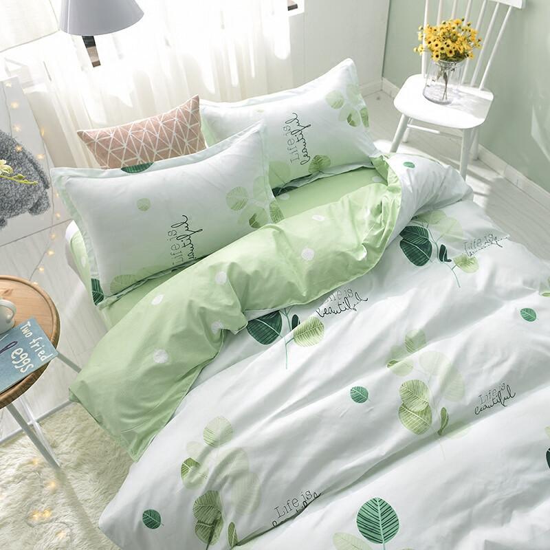 8m床可爱公主风床上用品四件套夏季_1 【2.0m床】被套2.0*2.