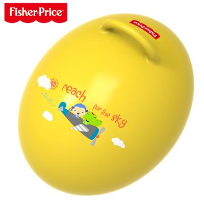 费雪(Fisher Price)儿童玩具球 宝宝健身球 蛋形跳跳球(黄色 赠充气脚泵)F0706H3